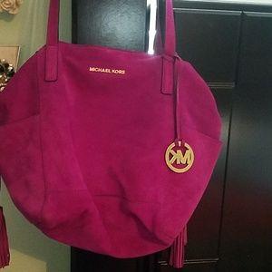 Michael Kors suede handbag